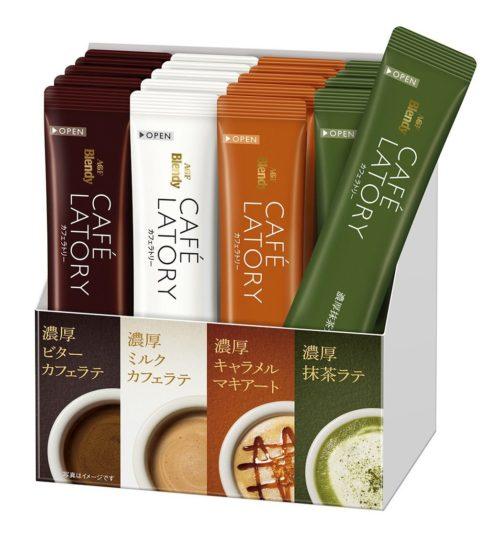 AGF Blendy CAFE LATORY Растворимый кофе в стиках, 4 вида, 20 штук