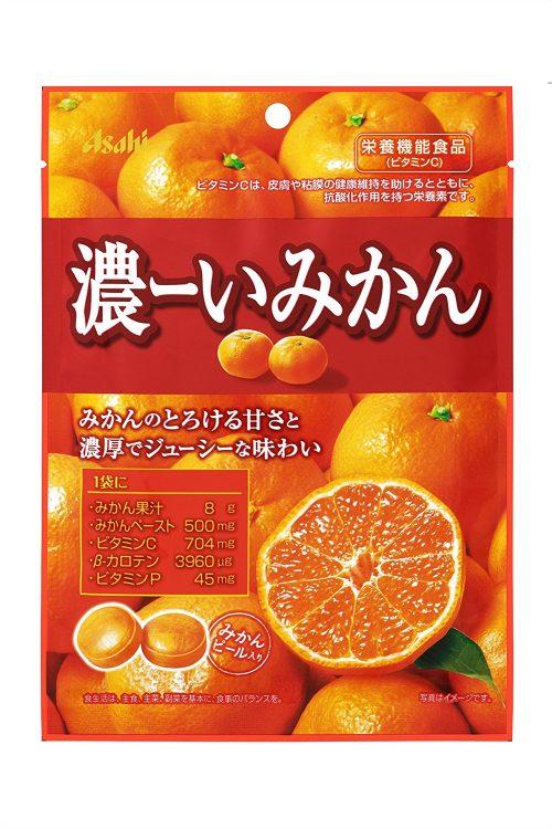 Asahi Леденцы Концентрированный мандарин, 88 г