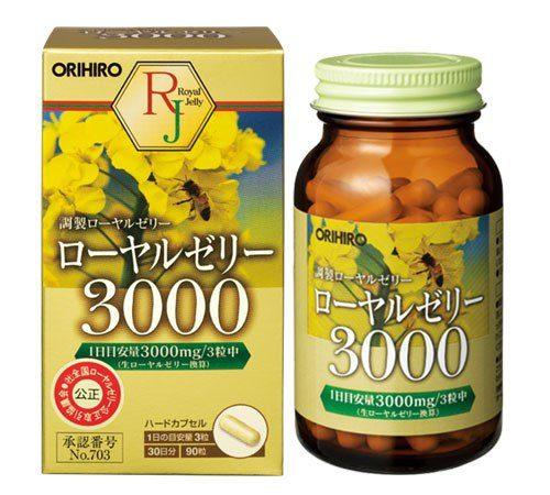 ORIHIRO Маточное молочко 3000, 90 таб., курс 30 дней