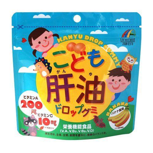 UNIMAT RIKEN Рыбий жир со вкусом банана (для взрослых и детей), 100 жевательных драже