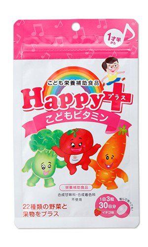 Happy plus Детские витамины (с 1.5 года) со вкусом клубники, курс 30 дней