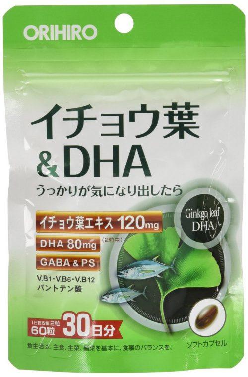 ORIHIRO Гинкго билоба + DHA (Омега-3), 60 табл., курс 30 дней