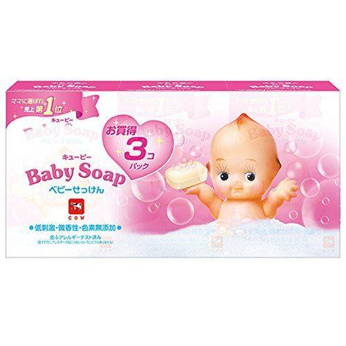 Cow Brand Kewpie Детское мыло, 90 г х 3 шт.