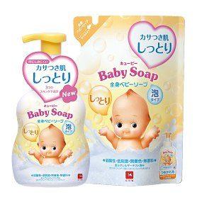 Cow Brand Kewpie Увлажняющее детское жидкое мыло для тела (тип — пенка)