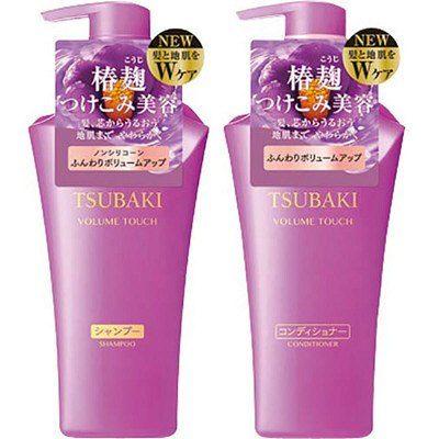 Shiseido TSUBAKI Volume Touch Бессиликоновый кондиционер для придания волосам объема, 500 мл