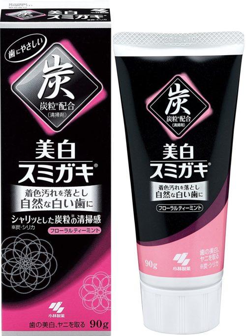Kobayashi Bihaku Sumigaki Угольная зубная паста с отбеливающим эффектом, 90 г