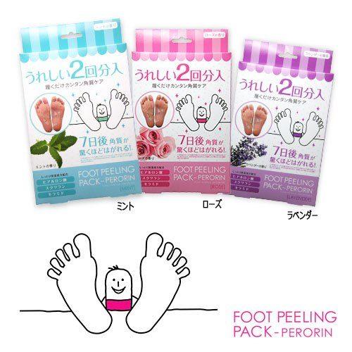 Foot Peeling Pack (в России продаются с названием SOSU) Педикюрные носочки, в упаковке 2 пары (25 мл х 4 шт)