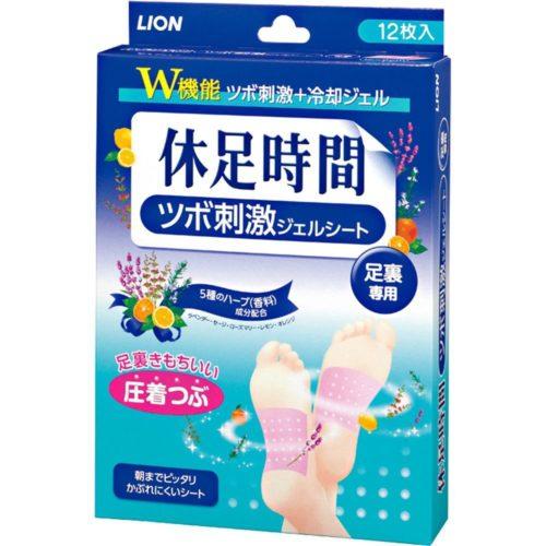LION Стимулирующие пластыри для стоп гелевого типа с охлаждающим эффектом, 12 шт.