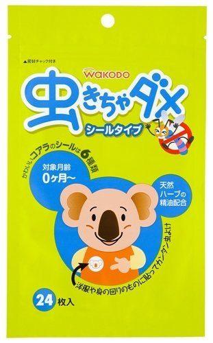 Wakodo Наклейки от насекомых для детей с самого рождения (с принтом коалы)
