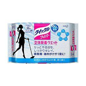 KAO Quickle Влажные салфетки для пола без запаха, 32 шт.