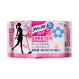 KAO Quickle Влажные салфетки для пола с ароматом розы, 32 шт.