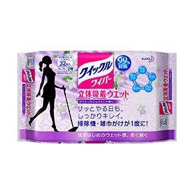KAO Quickle Влажные салфетки для пола с ароматом классического жасмина , 32 шт.