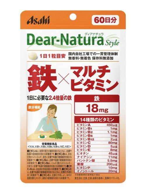 Asahi Dear Natura Железо + мультивитамины, курс 20/60 дней