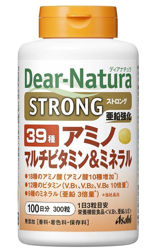 Dear Natura Asahi, 39 Аминокислоты, мультивитамины и минералы, курс 50/100 дней