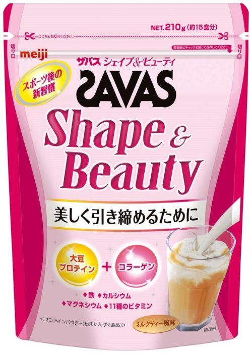 Meiji SAVAS Shape&Beauty Соевый протеин для женщин + коллаген, 210 гр (на 15 приемов)