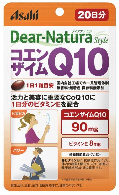 Asahi Dear Natura Коэнзим Q10 с витамином Е, курс на 20 дней