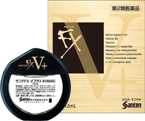 Капли для глаз Sante FX V Plus, 12 мл, индекс свежести: 5+