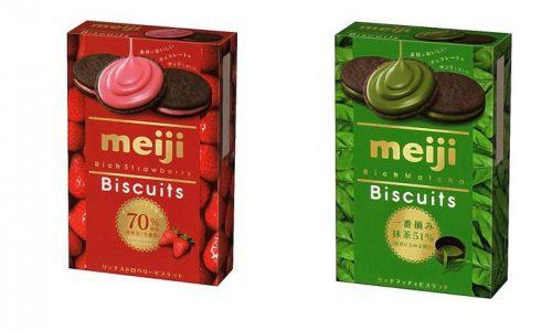 Meiji Rich Темное печенье с кремом, 6 шт.