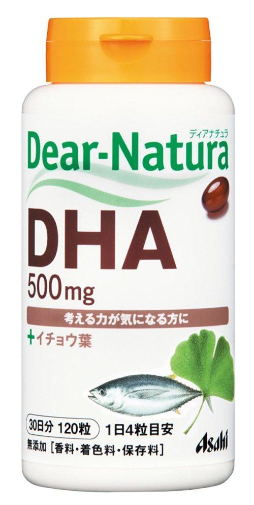 Asahi Dear Natura DHA (Омега-3) + Гинкго Билоба, курс 30/60 дней