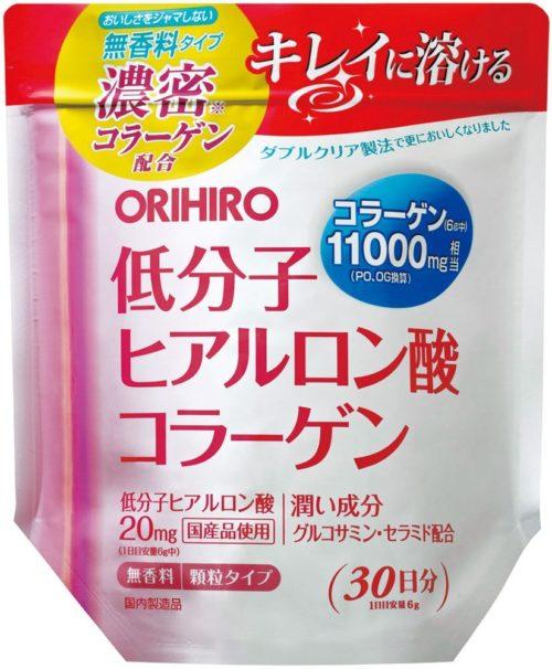 ORIHIRO Коллаген с низкомолекулярной гиалуроновой кислотой, 180 г, курс 30 дней