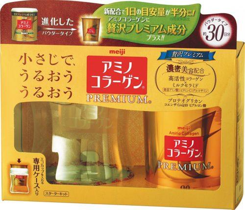 Meiji Амино коллаген Премиум, в порошке с контейнером в комплекте, 90 г
