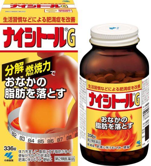 Kobayashi Naishitoru G Для похудения в области живота и бедер, 336 табл.