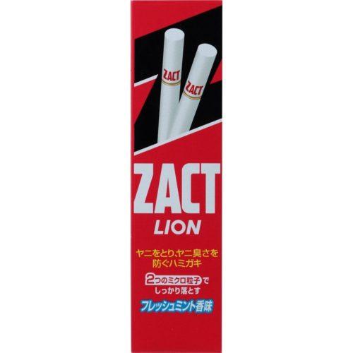 LION ZACT Зубная паста против налета и запаха табака для курильщиков, 150 г