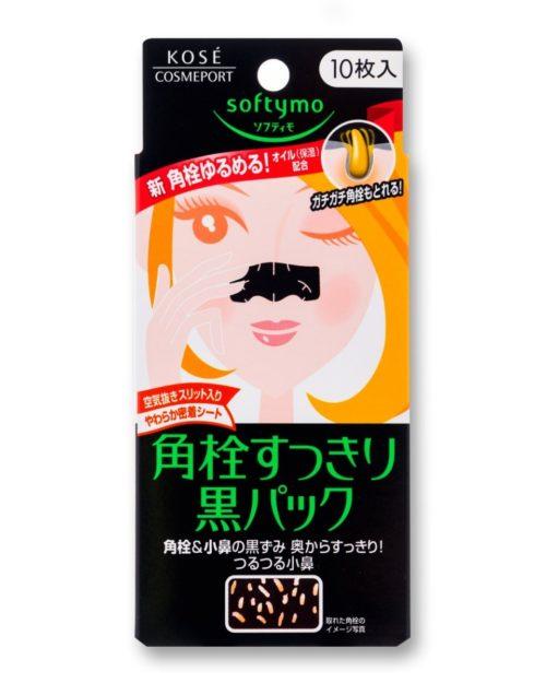 KOSE Softymo Черные салфетки для очистки пор на носу, 10 шт.