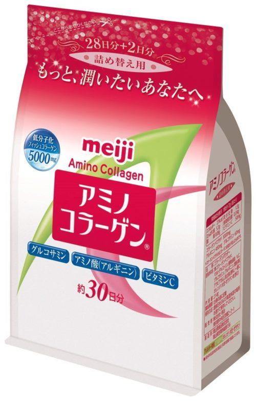 Meiji Amino Collagen Амино коллаген, в порошке в мягкой упаковке, 214 г