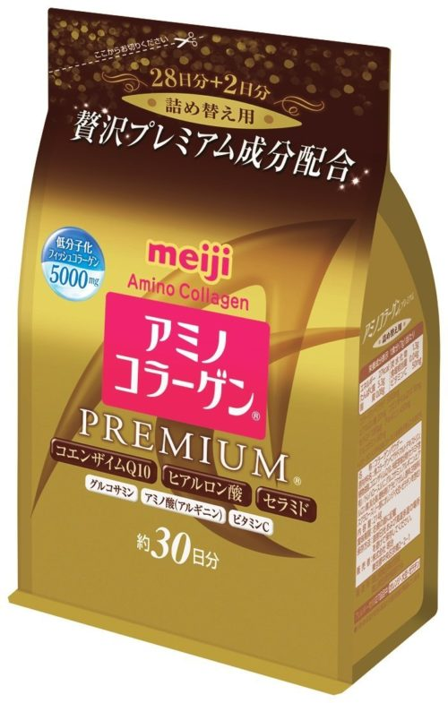 Meiji Amino Collagen Premium Амино коллаген Премиум, в порошке в мягкой упаковке, курс 30 дней, 214 г