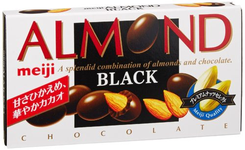 Meiji Almond Black Миндаль в темном шоколаде с полифенолами какао, 84 г