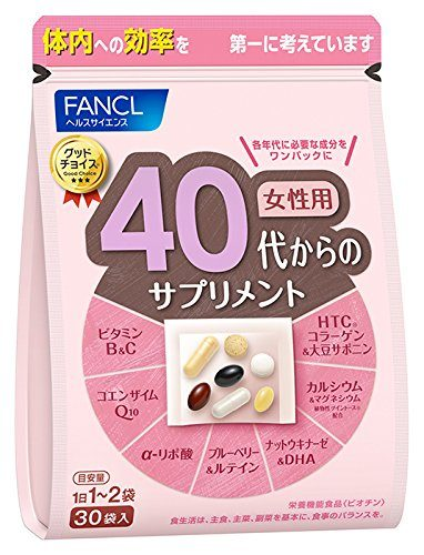 FANCL Витаминный комплекс для женщин после 40 лет (40-50 лет), 30 пакетиков