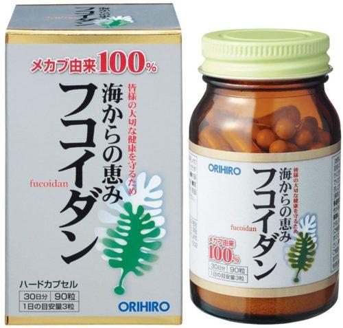 ORIHIRO Фукоидан, 90 капсул, курс 30 дней