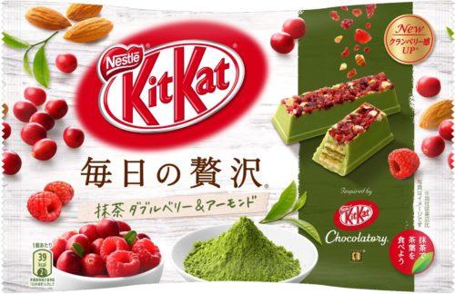 Kit Kat Matcha Double Berry&Almond Маття Двойная ягода и миндаль, 109 г