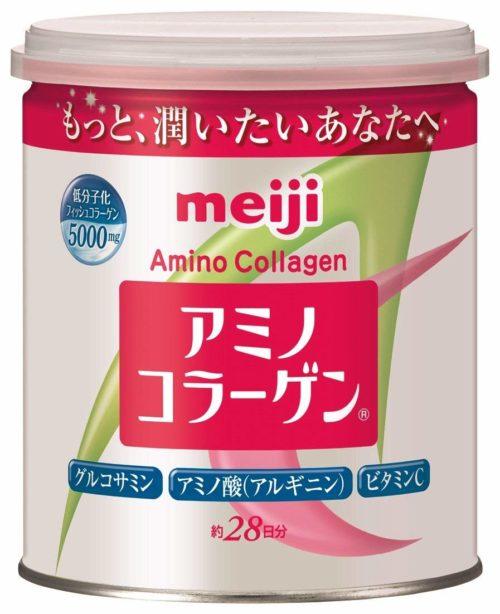 Meiji Amino Collagen Амино коллаген, в порошке в банке (ложка входит), 200 г