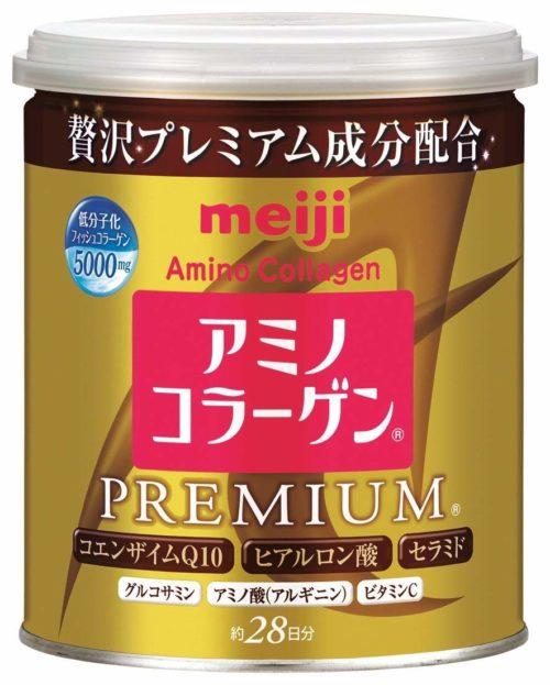 Meiji Amino Collagen Premium Амино коллаген Премиум, в порошке в банке (ложка входит), 200 г