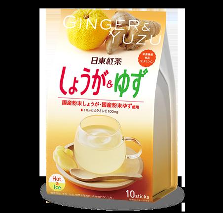 Nitto Tea Напиток Имбирь с юдзу, 10 пакетиков
