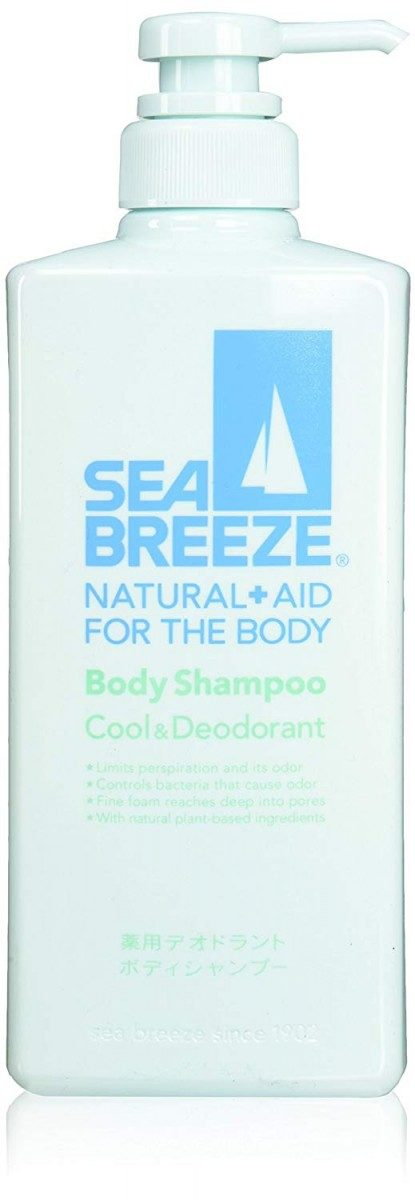 Shiseido Sea Breeze Body shampoo cool & deodorant Охлаждающий и дезодорирующий гель для душа