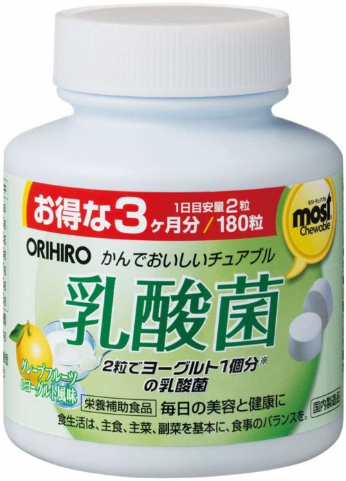ORIHIRO MOST Молочнокислые бактерии в жевательных таблетках, курс 3 месяца