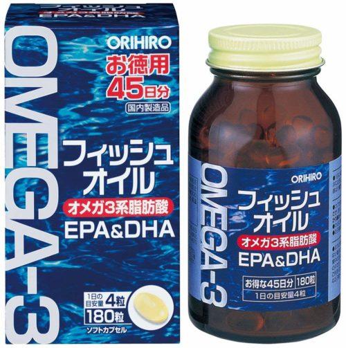 ORIHIRO Fish Oil Рыбий жир Омега-3 EPA и DHA, курс 45 дней