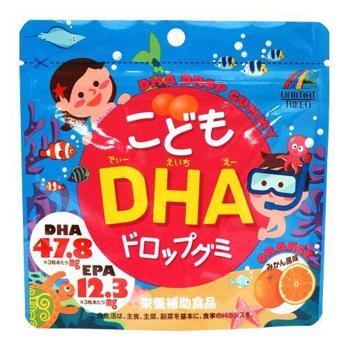 UNIMAT RIKEN DHA Омега-3 для детей со вкусом апельсина, 90 жевательных драже