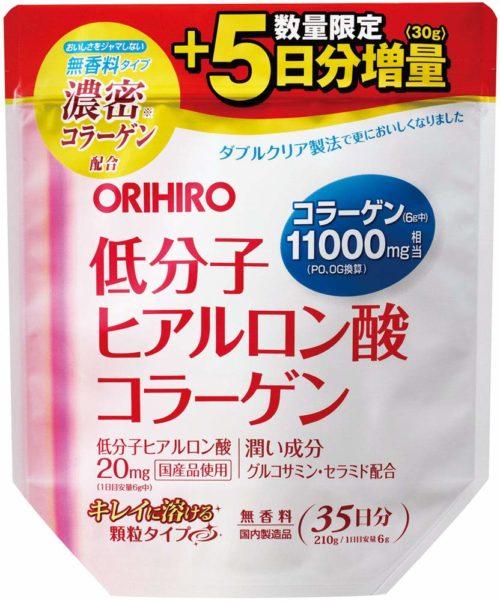 5 ДНЕЙ В ПОДАРОК! ORIHIRO Коллаген с низкомолекулярной гиалуроновой кислотой, 210 г, курс 35 дней