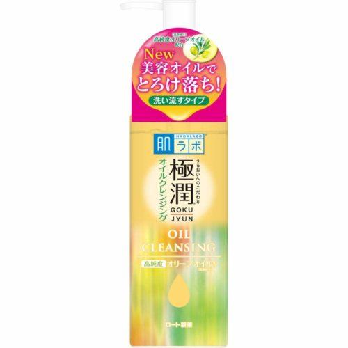 Rohto Hada Labo Gokujun Oil Cleansing Гидрофильное масло для очищения лица с гиалуроновой кислотой, 200 мл