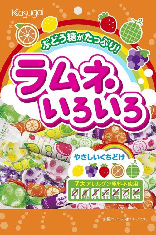 Kasugai Конфеты Ramune 5 фруктовых вкусов, 102 г