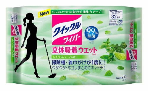 KAO Quickle Влажные салфетки для пола с ароматом цитрусов и трав , 32 шт.