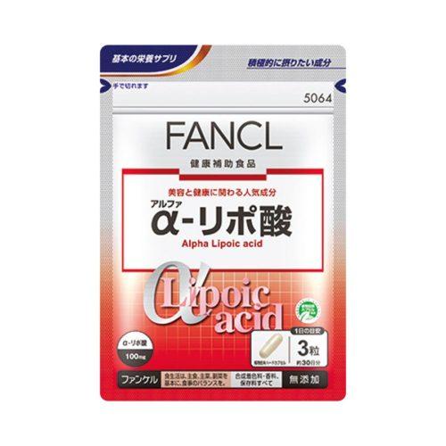 FANCL Альфа-липоевая кислота (тиоктовая кислота), курс 30/90 дней