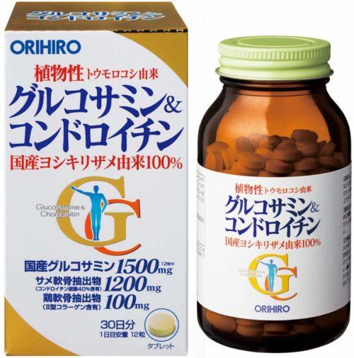 ORIHIRO Глюкозамин и хондроитин, 360 табл. на 30 дней