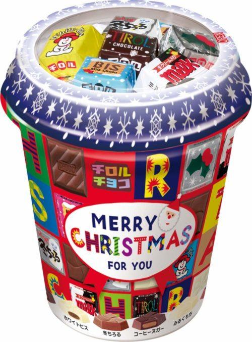 Tirol Choco Christmas Cup Набор ассорти мини-шоколада в новогоднем стакане, 40 шт.