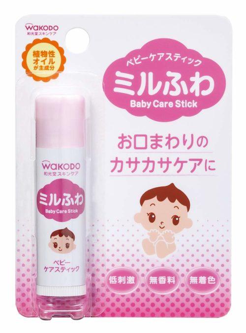 Wakodo Baby Care Stick Детский бальзам-стик для кожи вокруг рта, 5 г