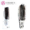 S-HEART-S Scalp Brush Plus Short Расческа короткая, цвет серебро